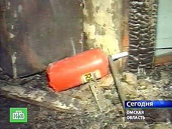 В доме престарелых в селе Екатерининское Омской области произошел пожар