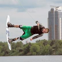 Открытый чемпионат Москвы по вейкборду.