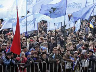 Украина: массовое столкновение пикетчиков