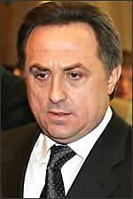 ВИТАЛИЙ  МУТКО  -  президент Российского футбольного союза