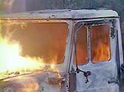 В Амурской области взорвался военный грузовик