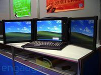 Прототип трехэкранного ноутбука