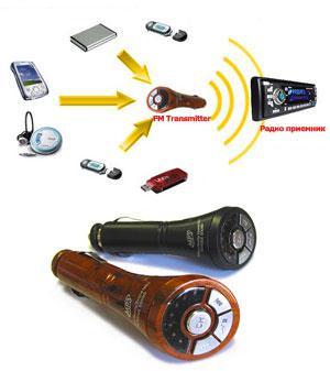 Для мобильных: Трансмиттер Car Stereo MP3 Reader & Transmitter