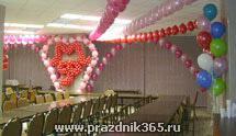 Оформление воздушными шарами, украшение шарами, оформление свадьбы