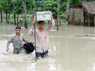 В Индии в результате наводнений за три дня погибли не менее 69 человек
