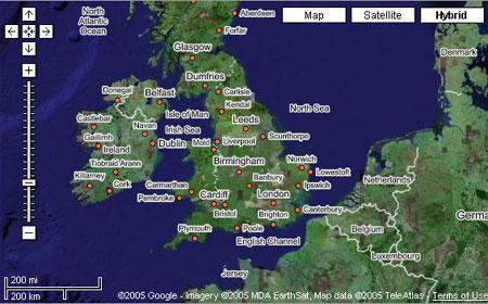 Google Maps - сверхкрупный план