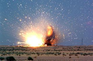 Вакуумная бомба, видео принципа действия взрыва