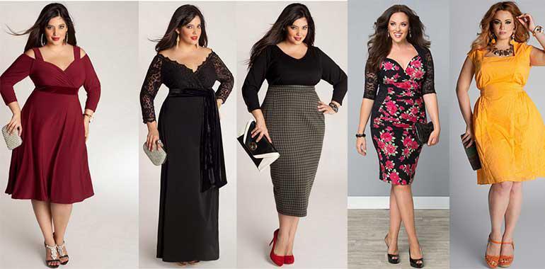 Лучшие новогодние платья для пышных дам
