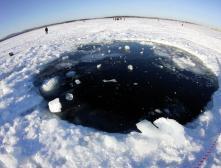 Эхолот, возможно, нашел в озере Чебаркуль крупный фрагмент метеорита