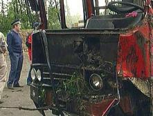 В Краснодарском крае опрокинулся автобус