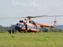 Военный Ми-8 упал сразу после взлета