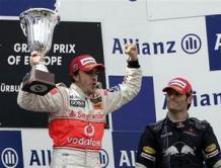 Пилот Макларена Алонсо стал победителем Гран-при Европы