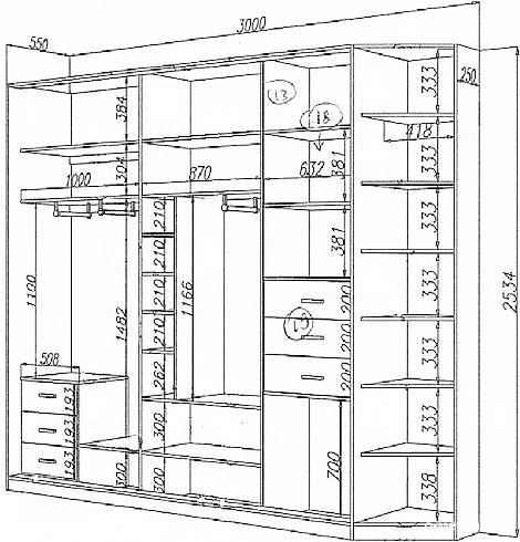 Изготовление шкафа купе своими руками чертежи